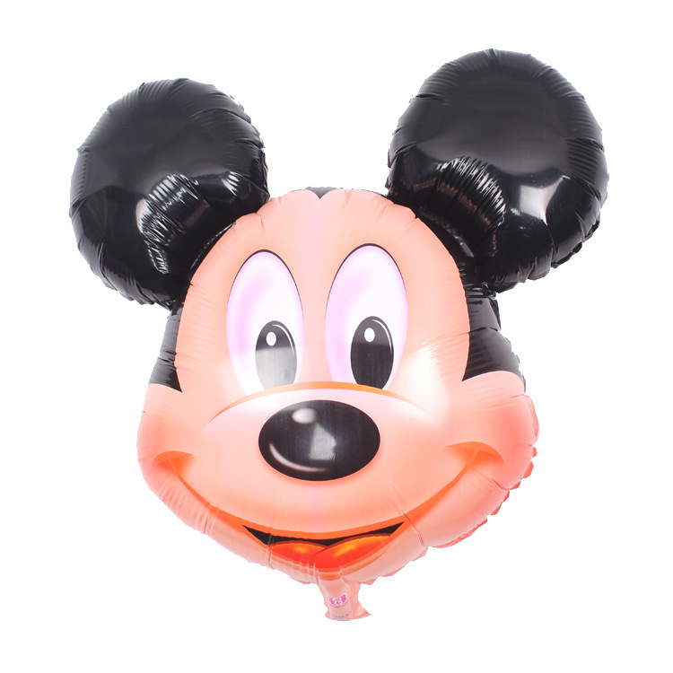 5pcs/lots Aluminum Balloons Mickey Minnie Head Balloon Party Decorations Ballons Childrens Toys