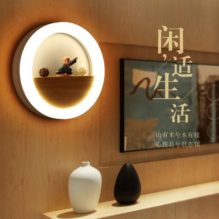 ФОТО LED Nordic Minimalism Iron Acrylic LED Lamp LED Light Wall lamp Wall Light For Bedroom Corridor Balcony Foyer.