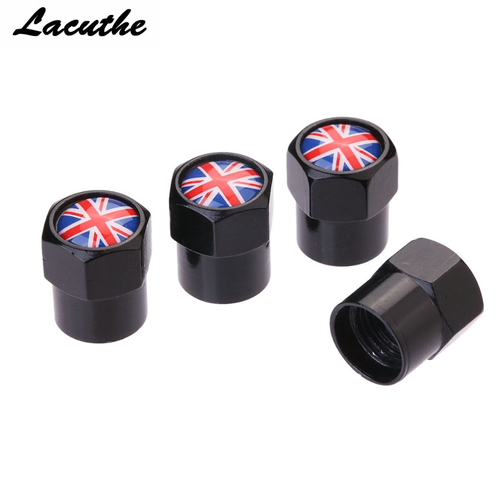 Fine 4 Pcs/lot Flag England Britain Car Sport Wheel Tire Valve Stem Air Caps Styling Stainless Steel For Car Styling Car Accessories