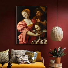 Jesuss Head Famous Oil Painting By Vinci  on Canvas Printings Art Home Decor Wall Picture for Living Room Church