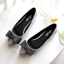 Elegant Women Shoes Flats Ballet Flats Spring/Autumn 2019 Fashion Shoes Woman Butterfly-knot Pointed Toe Slip-On Plus Size 34-45 все цены