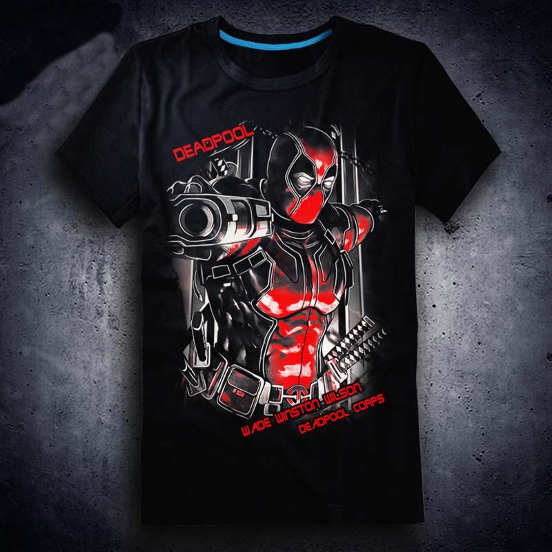 Новая футболка Дэдпул, футболка с аниме, хлопковые летние футболки с короткими рукавами, топы