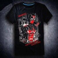 New Deadpool T shirt Anime t shirt Cotton Summer Short sleeve Tees tops