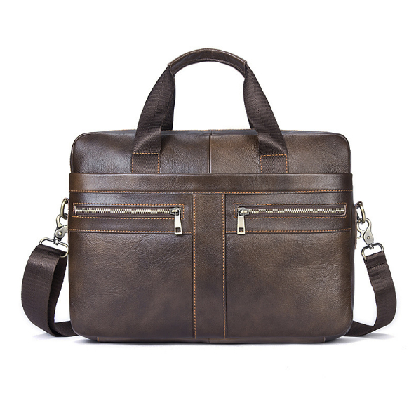 Genuine Leather Men Bags Briefcases Men's Messenger Bag Cowhide Leather Laptop Crossbody Handbag Male Business Bag j quinn men leather briefcases bags business shoulder crossbody genuine handbag messenger laptop pack for male travel mens bag