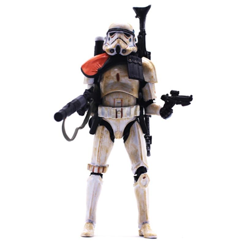 все цены на  Star Wars Action Figure Toy Stormtrooper The Force Awakens White Armband Black Series 6