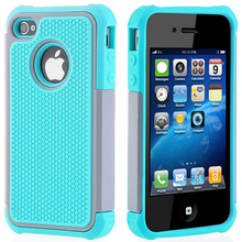 For iPhone 4S Case For iPhone 4 Cover Soft TPU Silicone & Hard Shell Hybrid Shockproof Rugged Phone Case For iPhone 4S 4 4G on чехол для iphone 4 4s talking lila