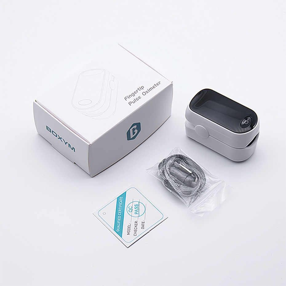 BOXYM медицинский пальцевой Пульсоксиметр кислорода в крови кислородный пульсометр цифровой светодиодный пульсометр монитор здоровья Oximetro прибор для измерения давления Pulso