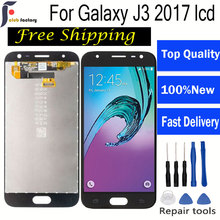 AMOLED For Samsung J3 2017 screen j330 lcd Display Galaxy J330 J330F J330G LCD Touch Screen Digitizer