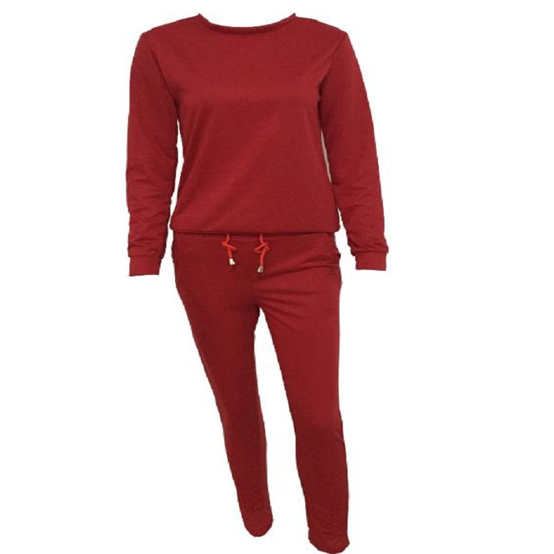2018 ECTIC NEW Women's fashion casual suit. Solid color women's comfort suit P5746