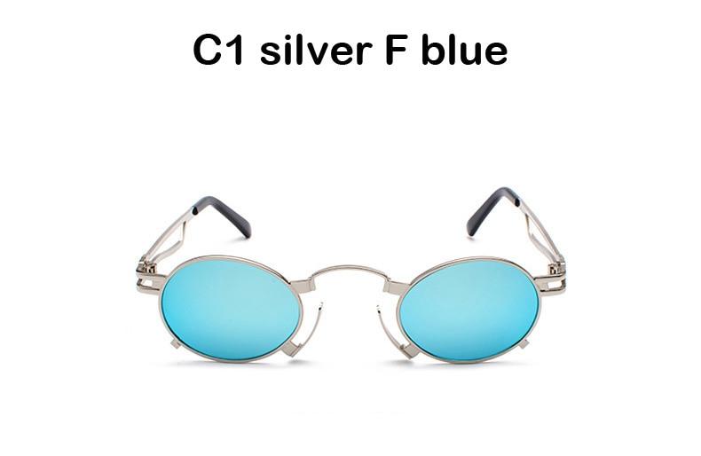 afad8998765 BANSTONE Men Metal Oval Frame Steampunk Gothic Vampire Sunglasses Unisex  Retro UV400 Sun Glasses Cosplay Styling Oculos De Sol Heart Shaped  Sunglasses ...