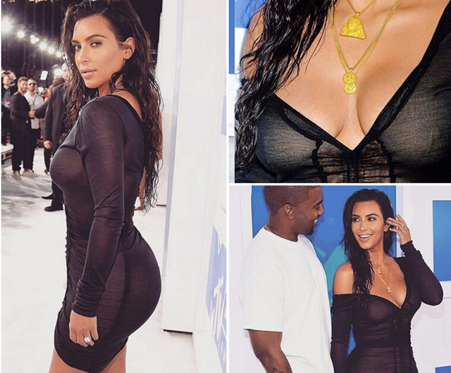 Kim Kardashian Party Dresses Deep V-Neck Sexy Black Mesh Dress Women Pleated Draw String Bodycon Dress Robe Vestidos BH-201 3