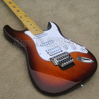 Chinese ST Guitars Electric Sunburst Body Maple Fingerboard Star Inlay Custom Factory Shop