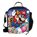 2015 Cute Cartoon Bag Super Mario Cooler Lunch Bag For Kids School Boys Girls Thermal Lunch Bags For Kids Children Gifts