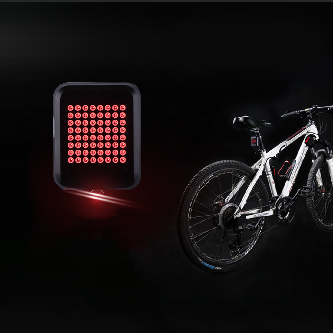 Bicycle Intelligent Turn Tail Light Signal Light Brake Light Projection fahrradlicht LED ...