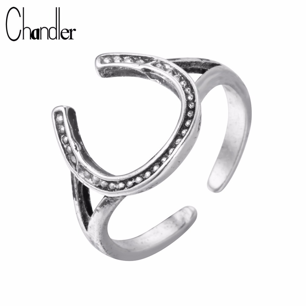 Chandler Silver Plating Jewelry U Shape Rings Korean Beaded Surface Creative Do The Old Finger Band Thai Silver Accessary