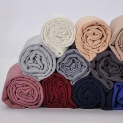 Women Chiffon Shawl Solid Color Fashion Wrap Scarf Muslim Arabic Scarves Hijab Instant Shawl Bawal 180x90cm 2019 New