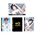 KPOP INFINITE Youpop SÓ Álbum LOMO Cartões Photocard K-POP de Moda de Nova Auto moldura Feita de Papel Cartão HD LK439