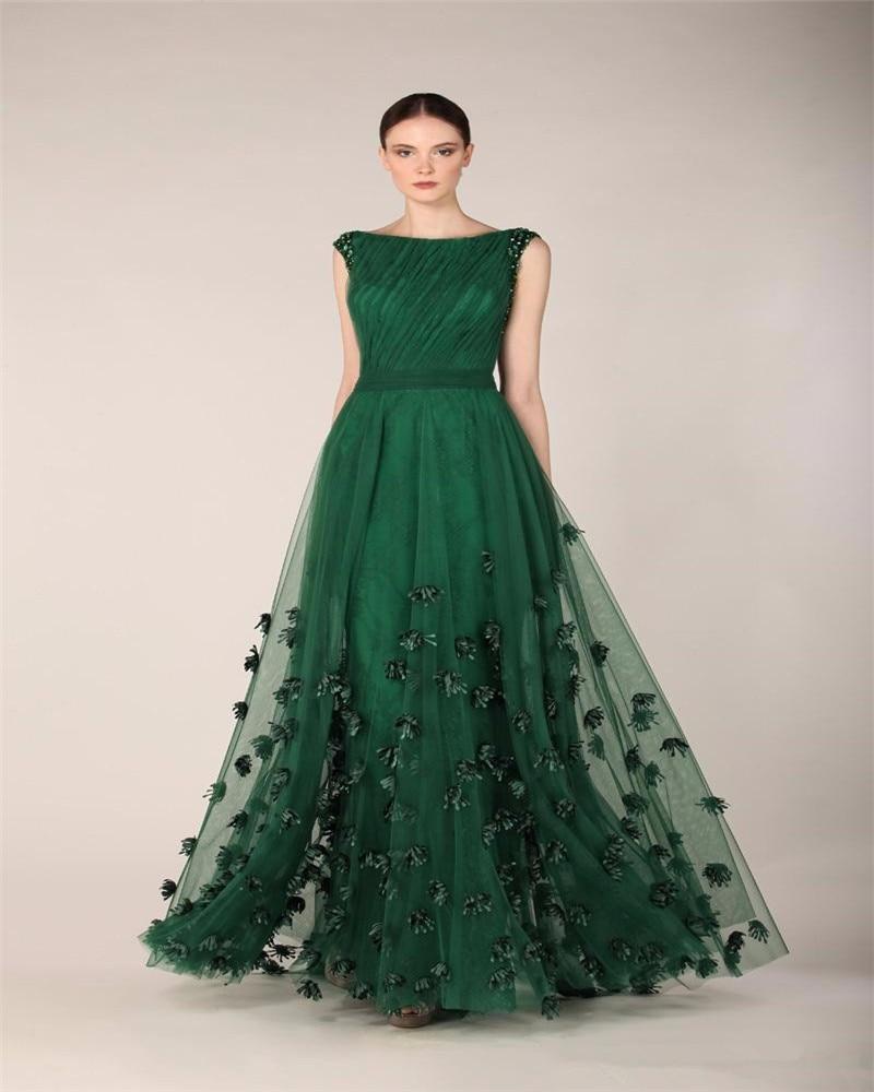 Vestido fiesta verde esmeralda