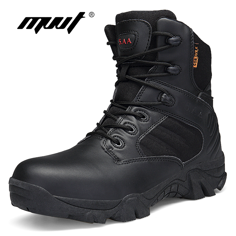 Classic Genuine Leather Men Boots Tactical Camping Desert Boots Military Army Boots Breathable Snow Ankle Boots Botas Zapatos