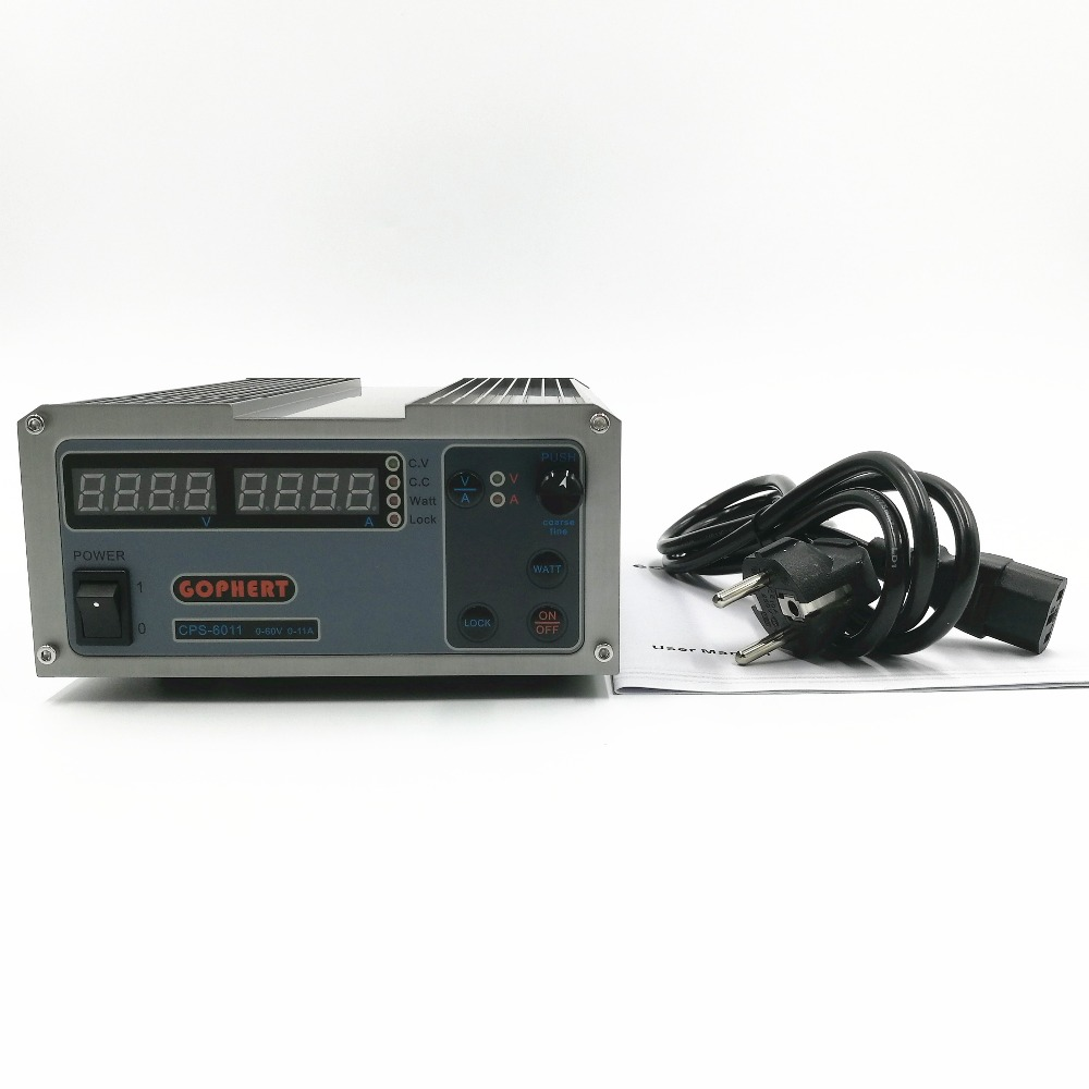 CPS-6011 60V 11A Precision PFC Compact Digital Adjustable DC Power Supply Laboratory Power Supply cps 6011 60v 11a precision pfc compact digital adjustable dc power supply laboratory power supply