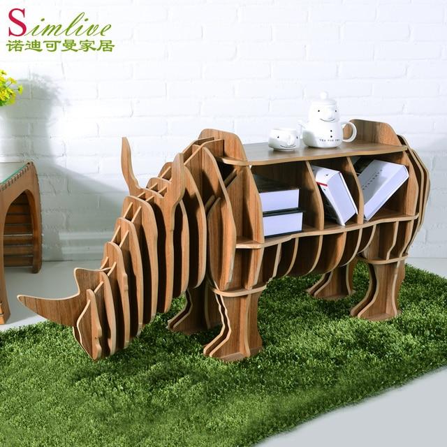 Rhino Coffee Table Shelves Animals Bookshelf Model Room Furniture IKEA  Furniture Designer And Creative Coffee Table