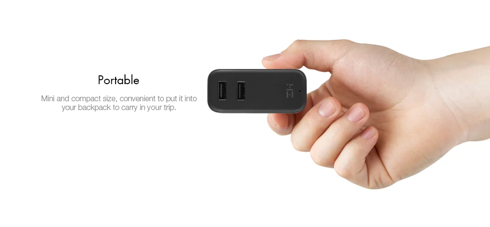 XIAOMI ZIMI Fast Charger QC 3.0 5V 3A 2 IN 1 Wall Charger and 6500mAh Xiaomi Power Bank Zmi Power Bank For Xiaomi Samsung Phone
