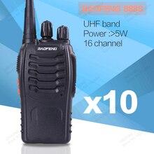 10 pcs/lot Baofeng 888S Max 5W Ham Radio 16 Channel UHF 400-470NHZ Handheld Two way Radio 888S walkie talkie radio transceiver
