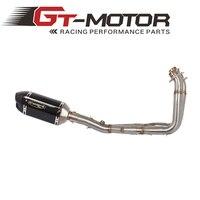 GT Moteur-Glissement Sur 51 MM Système Complet Pour Yamaha YZF R6 2008-17 Moto Silencieux D'échappement Évasion De avec Avant Moyen Lien tuyau