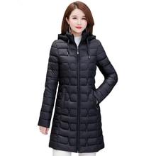 2019 Casual Winter Coat Women Plus Size 4XL Warm Down Cotton Jacket Women Outerwear Hooded Slim Casual Thin Female Long Parkas цены онлайн