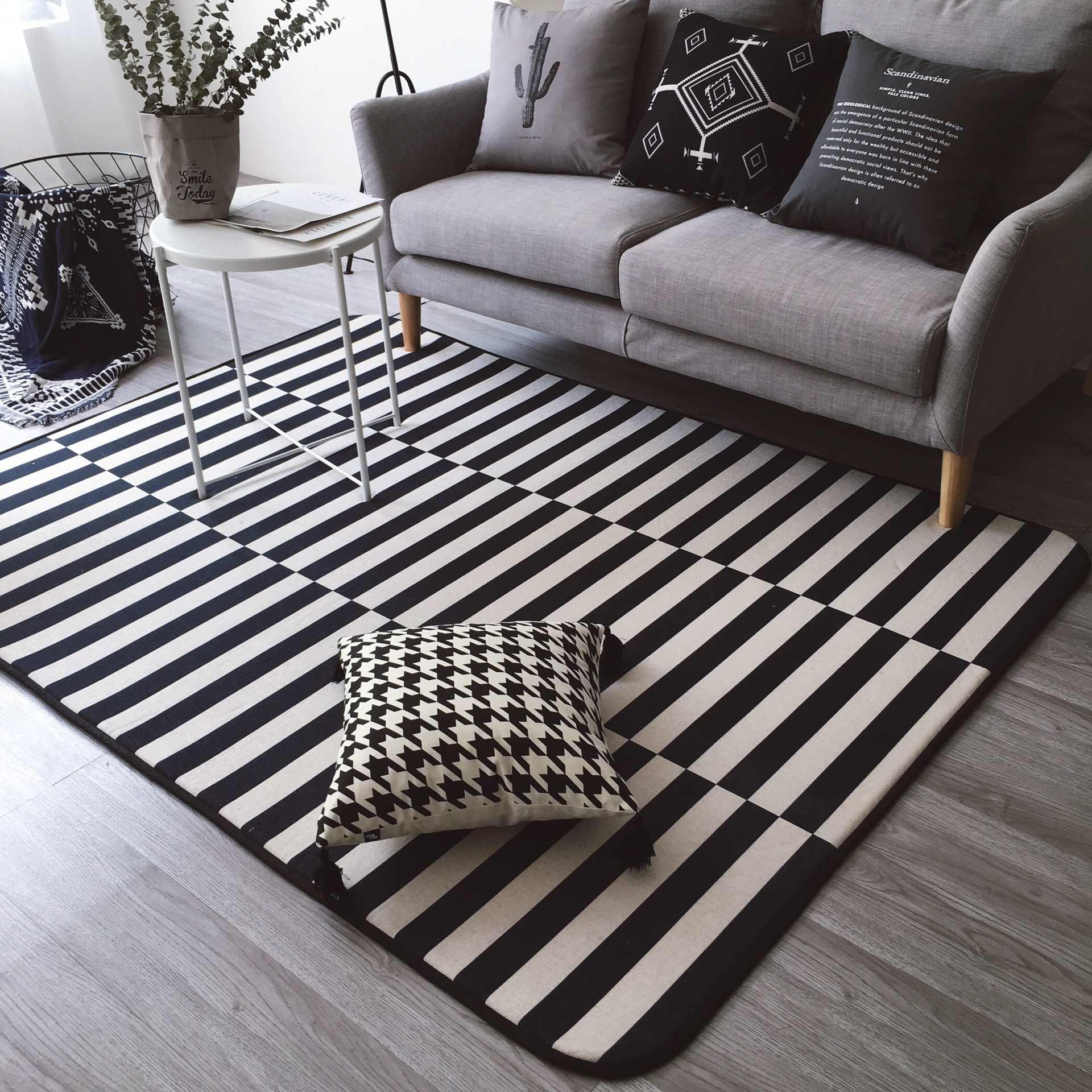 145x195cm Black White Rugs And Carpets