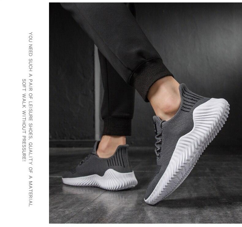 HTB1L8nuP3HqK1RjSZJnq6zNLpXaZ KJEDGB 2019 New Ultralight Men Casual Shoes Solid Black White Gray Breathable Comfortable Sneakers Big Size 39-47 Male Shoes
