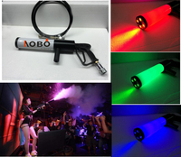Ручной светодиодный co2 пистолет RGB ткацкий станок специальные эффекты co2 пушки Fogger дым пистолет новый Led co2 пистолет/led диджей gun/dj co2 RGB