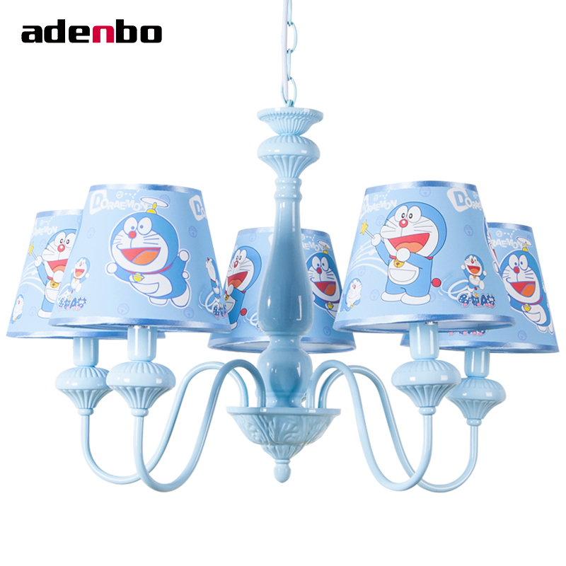 Modern LED Chandeliers Lighting Fixture Kids Chandelier Light With Fabric Shade Ceiling Mounting Or Pendant For Bedroom Lights