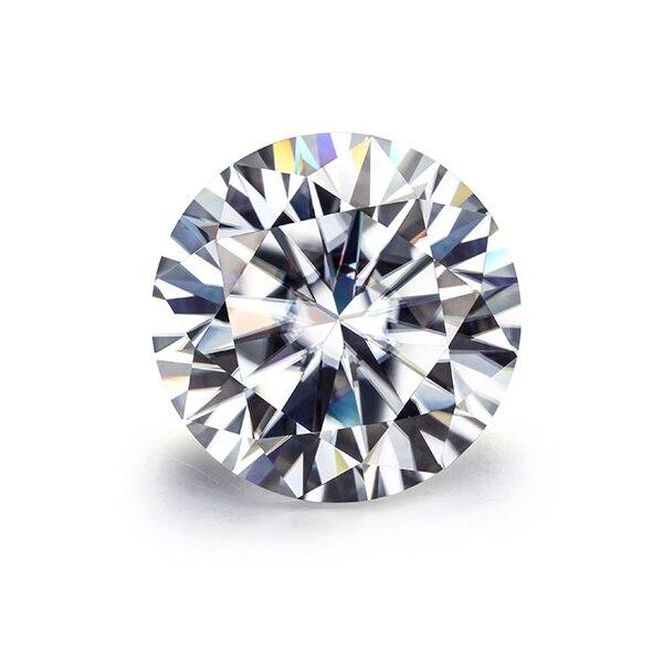 Brilliant Moissnaites 10 Carat 15mm EF Color Moissanites Loose Stone VVS1 Excellent Cut Test Positive Lab Diamonds for Jewelry