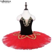 Black red ballet clothes leotards children Don quixote performance ballet skirt tutu ballerina dance csotumeBLST18010