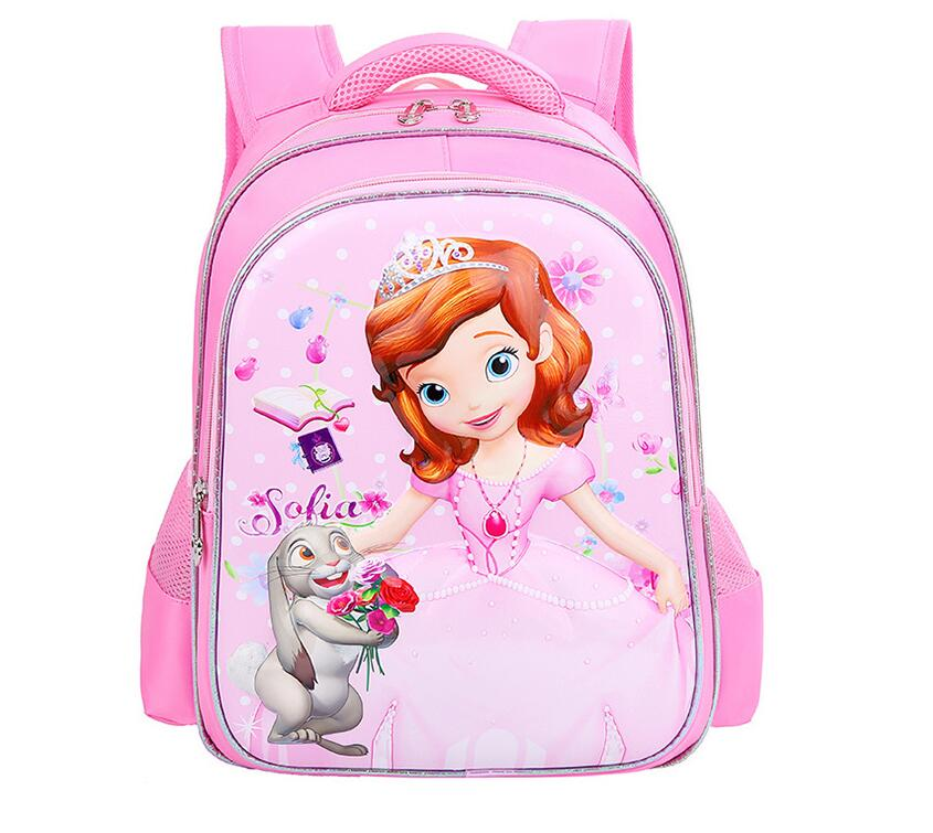 Новый ортопедические дышащий София школьный детский мультфильм школьные сумки для девочек школьные рюкзаки Mochila Infantil