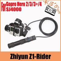 Zhiyun Z1 Rider 3 оси Портативный BL устойчивый Gimbal для Gopro Hero3 3 + 4 SJ4000