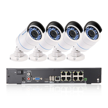 Techage 8CH 1080P 48V POE Network NVR Record CCTV System Set 4PCS 2MP 3000TVL IP Camera Night Vision Outdoor Video Security Kit