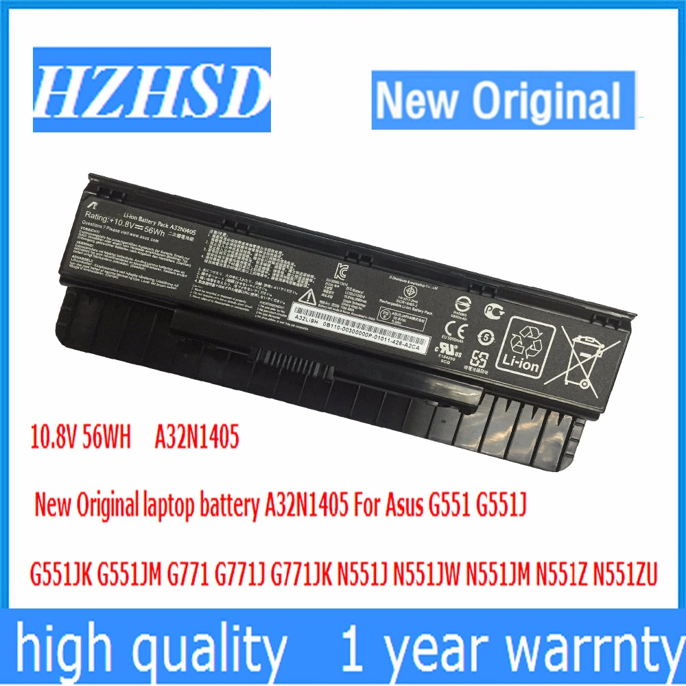 10.8V 56WH New Original A32N1405 laptop battery A32N1405 For Asus G551 G551J G551JK G551JM G771 G771J G771JK N551J N551JW 10 8v 56wh original new laptop battery for asus g551 g58jk g771 g771jk a32n1405 n551