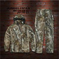 JUNGLEMAN Bionic камуфляжные куртки комплект со штанами водонепроницаемый ветрозащитный Весна и осень царапинам Рыбалка Охота костюмы