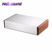 الألومنيوم هيكل مكبر للصوت حالة خشبية الجانب لوحة مربع البسيطة الضميمة DIY منزل