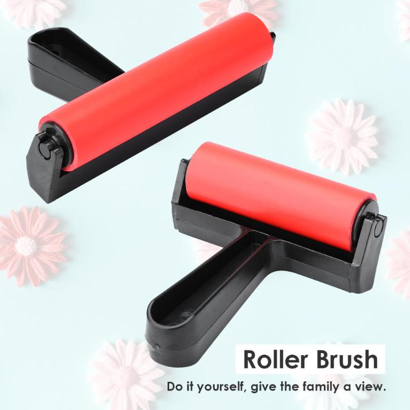 5D Paint Roller Brush Rubber Roller Brush Household Use Wall Decorative Brushing Craft Art Drawing Tools Wall Decor