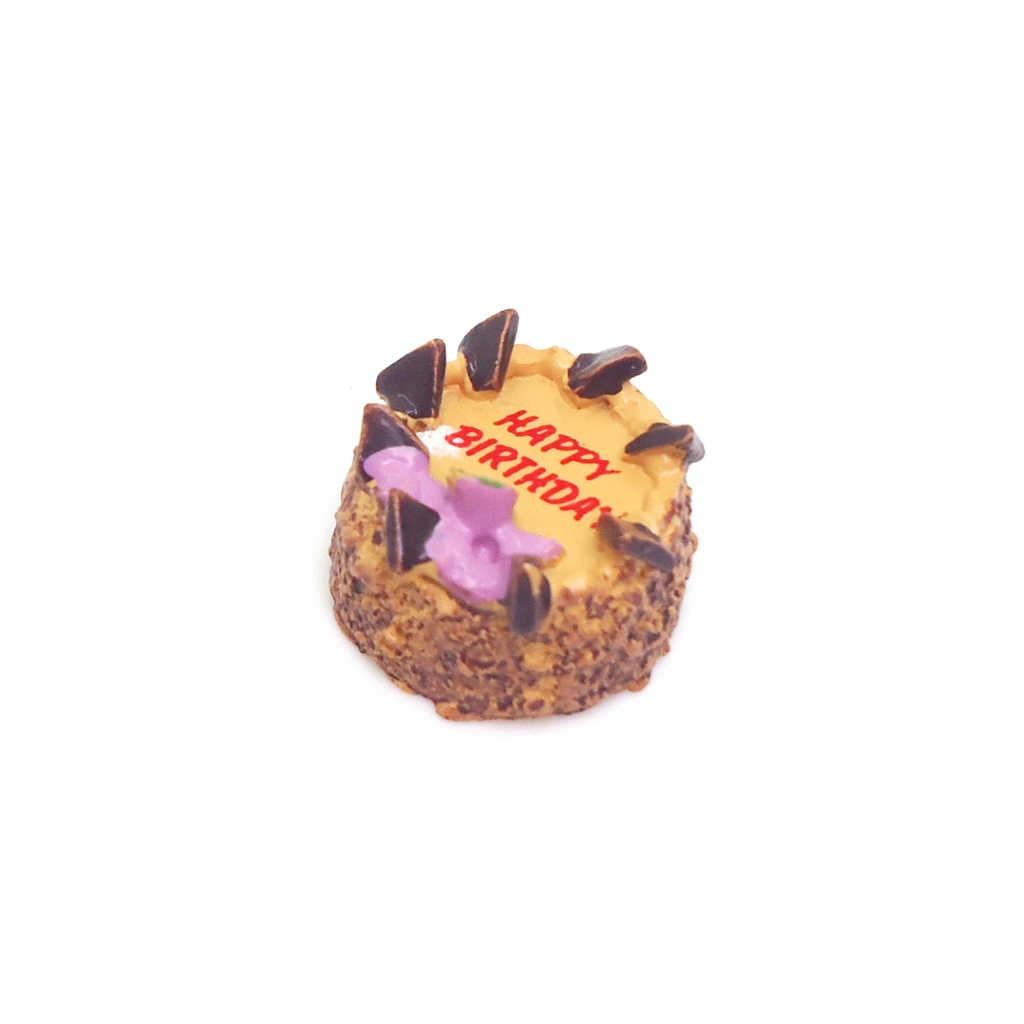 MagiDeal 1:12 Nhà Búp Bê Lắp Ghép Mô Hình Thu Nhỏ Chúc Mừng Sinh Nhật Bánh Sô Cô La Thực Phẩm Làm Bánh Đồ Chơi Nhà Bếp Cho Búp Bê Nhà Phòng Ăn Tủ