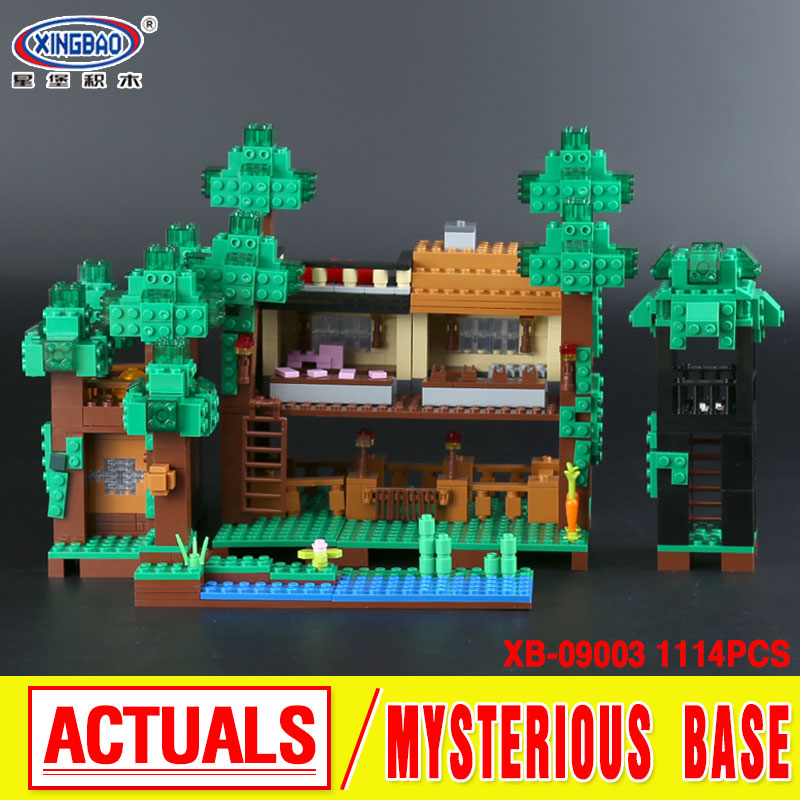 Xingbao 09003 1114Pcs Creative MOC Series The Mysteries of Base Set Children Building Blocks Bricks Educational Toys Model Gifts wange louvre of paris building blocks set model small architecture series 2017 classic educational toys for children gifts