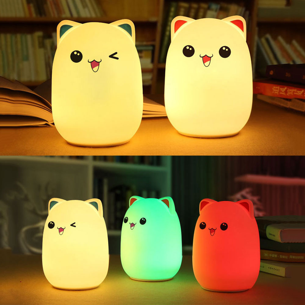 Animal Lamp For Nursery Us 18 37 Led Nursery Lamp For Baby Kids Remote Control Rechargeable Led Night Light Soft Silicone Animal Lamp Baby Kids Sleeping Light In Led Night