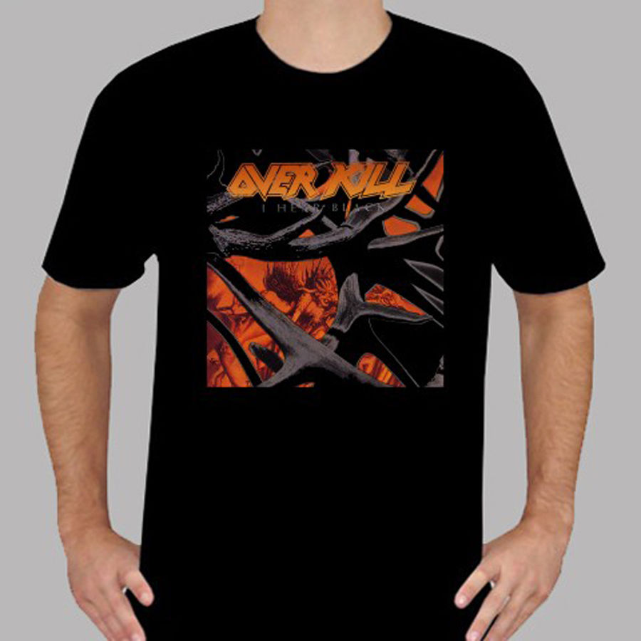 New Over Kill *I Hear Black Metal Rock Band Men's Black T-Shirt Size S To 3XL Fashion Men T Shirts Round Neck Funny Men
