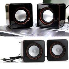 USB DC 5V 3.5mm Audio Interface Stereo Mini Portable PC Speaker Subwoofer Black For Notebook Desktop Laptop Tablet