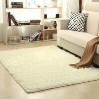 Soft Shaggy Carpet Kids Room Faux Fur Area Rug Living Room Mats Rectangular Bedside Carpet Multi colored 120*160 cm New Arrival