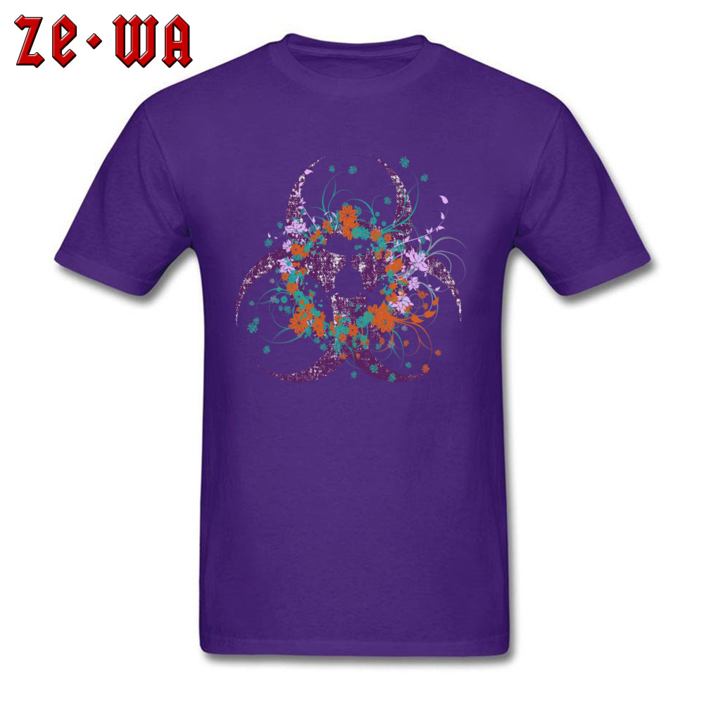 Normal Beautiful Biohazard Tops Shirt for Students 2018 Summer Round Neck Cotton Short Sleeve Top T-shirts 3D Printed T Shirt Beautiful Biohazard purple