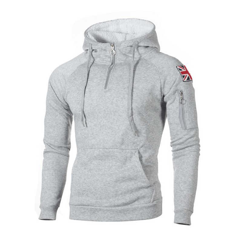 2019 mode décontracté solide sweats hommes vêtements d'extérieur automne Blouse mâle sweats à capuche Hip Hop à manches longues à capuche Streetwear hommes vêtements